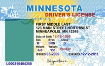 Minnesota Drivers License Template