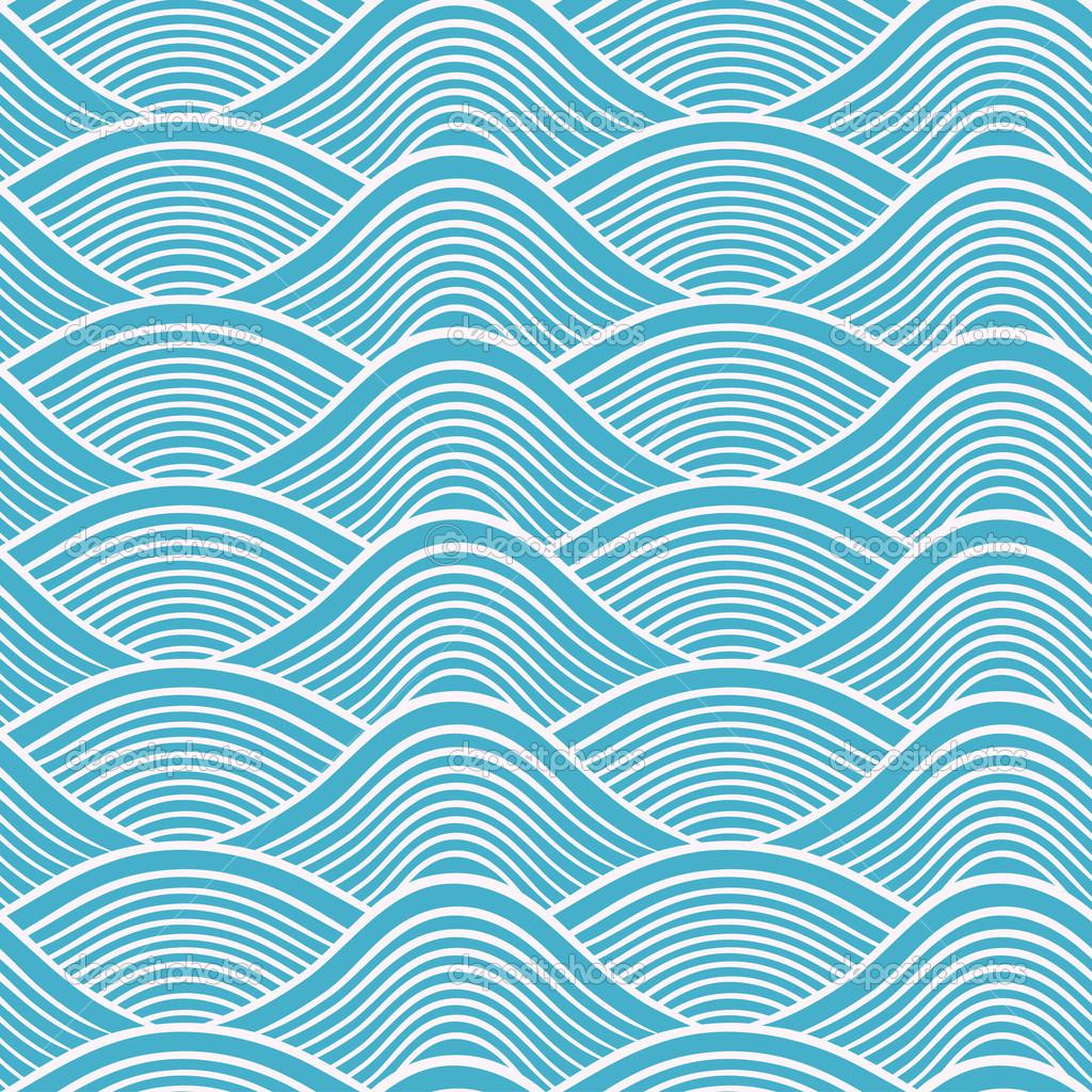 14 Wave Pattern Vector Images - Seamless Ocean Wave ...  Ocean Water Pattern