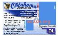 Oklahoma Driver License Template Photoshop