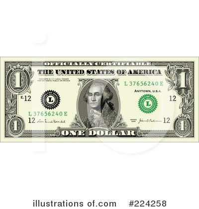 One Dollar Bill Clip Art