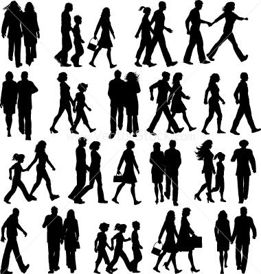 12 Vector People Walking Images