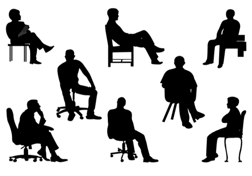 Person Sitting Silhouette