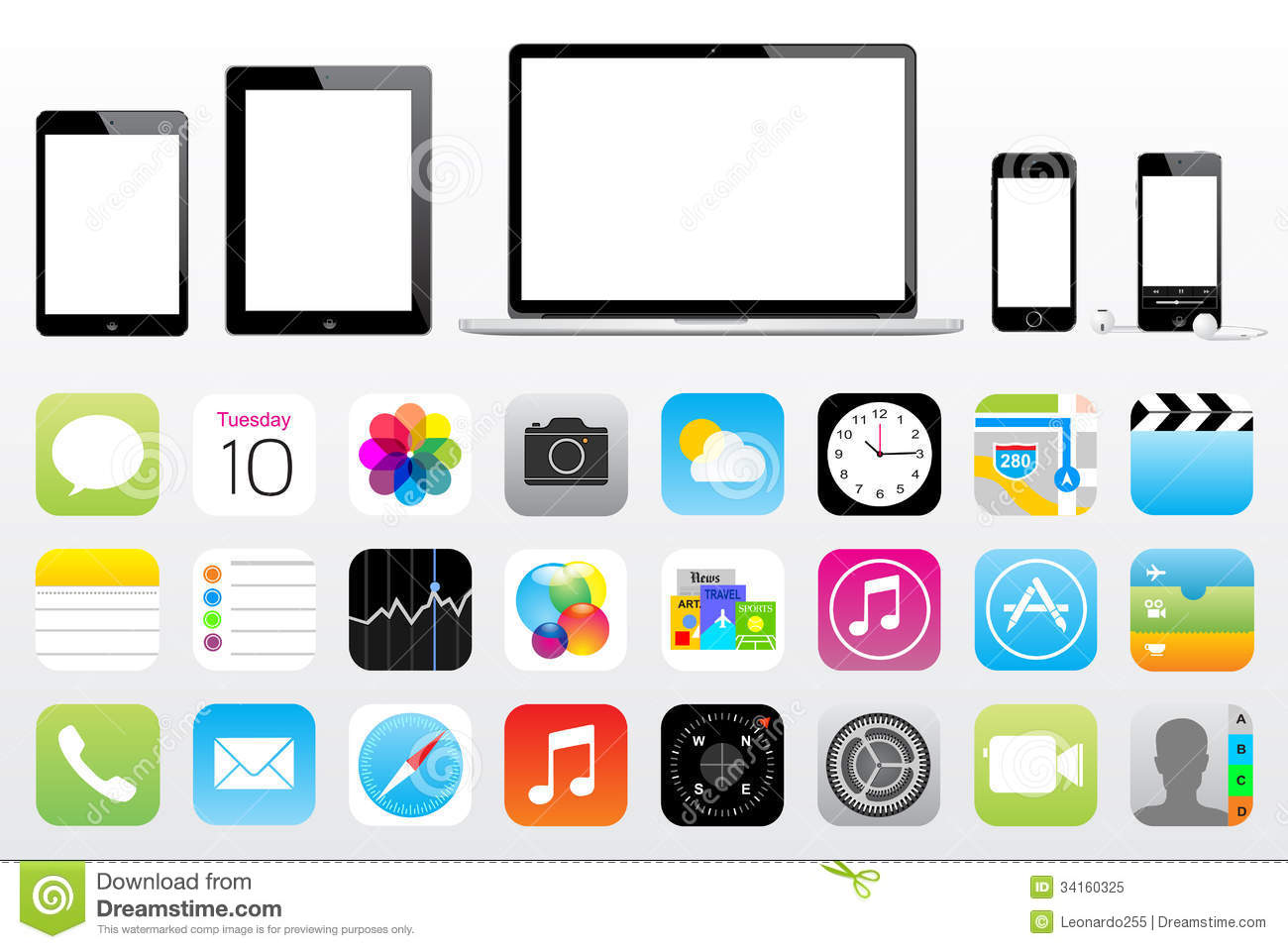 Printable iPad Icons