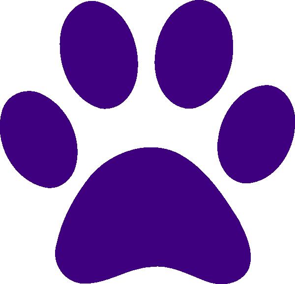 Purple Paw Print Clip Art