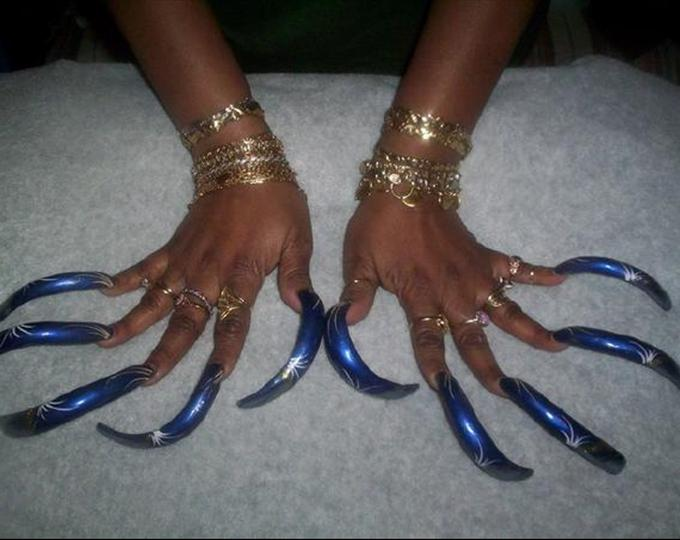 14 Midnight Blue Nails With White Design Images , Midnight