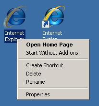 Restore Internet Explorer Icon On Desktop