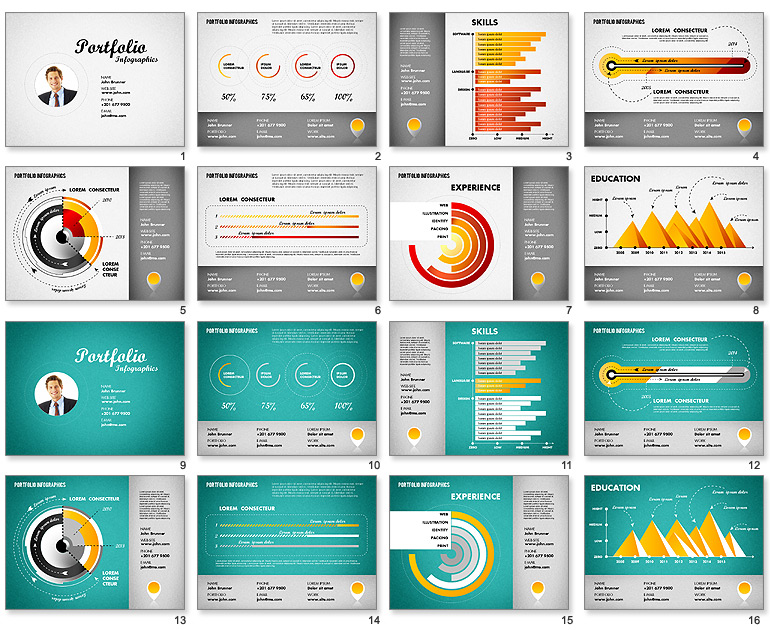 15 resume infographic powerpoint template images infographic