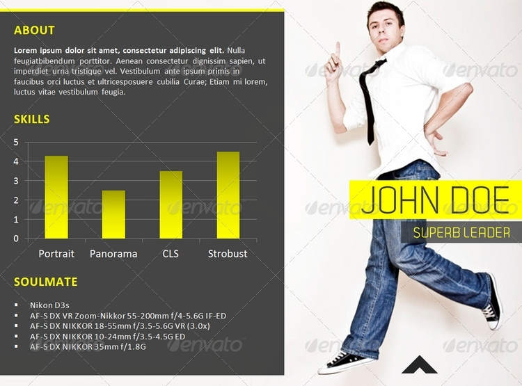Resume PowerPoint Presentation Template