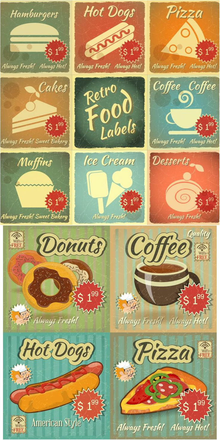 Retro Food Labels