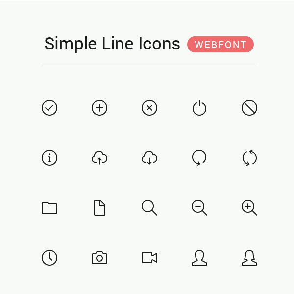 6 Simple Line Icons Images