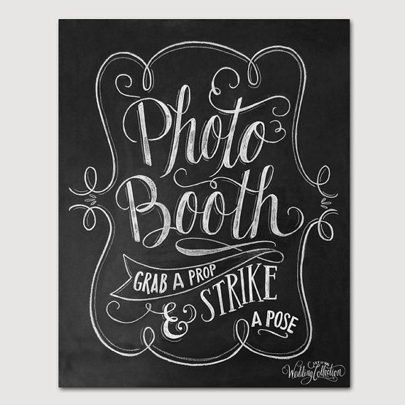 Strike a Pose Photo Booth Sign