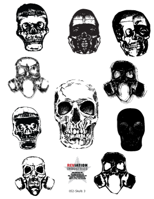 Three Skulls Clip Art