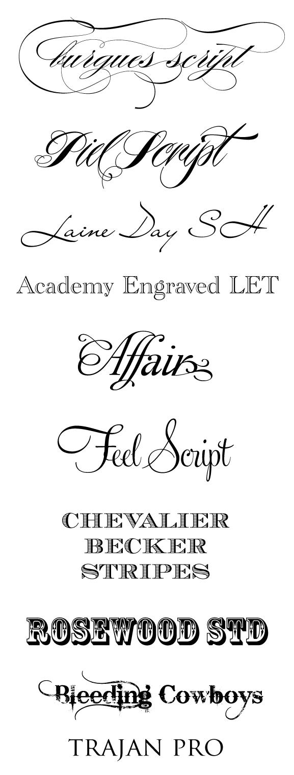 10 Best Wedding Fonts Images