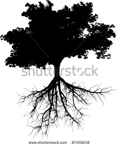 15 Tree With Roots Silhouette Vector Images