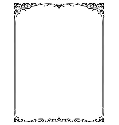 Vector Corner Borders Black and White