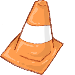5 VLC Traffic Cone Icon Images