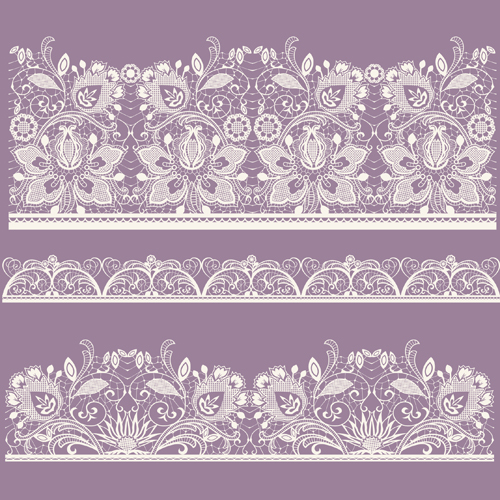 15 White Lace Pattern Vector Free Images