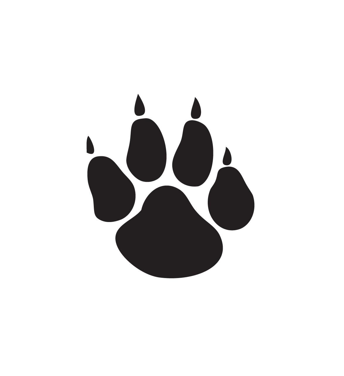 Wildcat Paw Print Clip Art