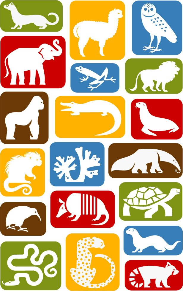Zoo Animal Icons