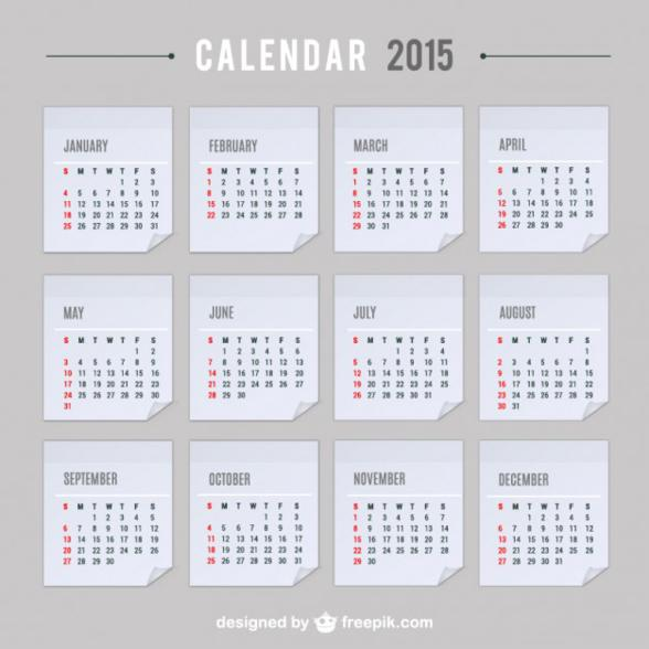12 July 2015 Calendar PSD Template Images