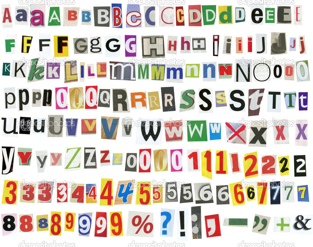 ABC Magazine Cut Out Letters