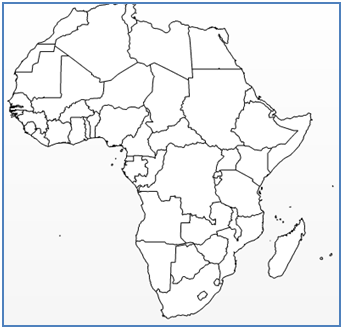 Africa Map Outline Vector
