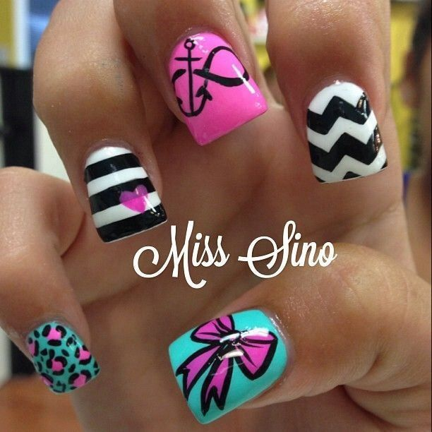 9 Infinity Nail Design Images