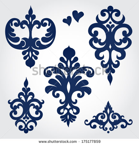 15 baroque design vector images baroque ornament vector. Black Bedroom Furniture Sets. Home Design Ideas