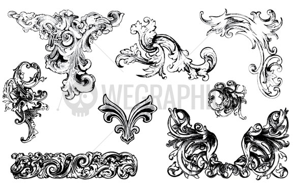15 Baroque Design Vector Images