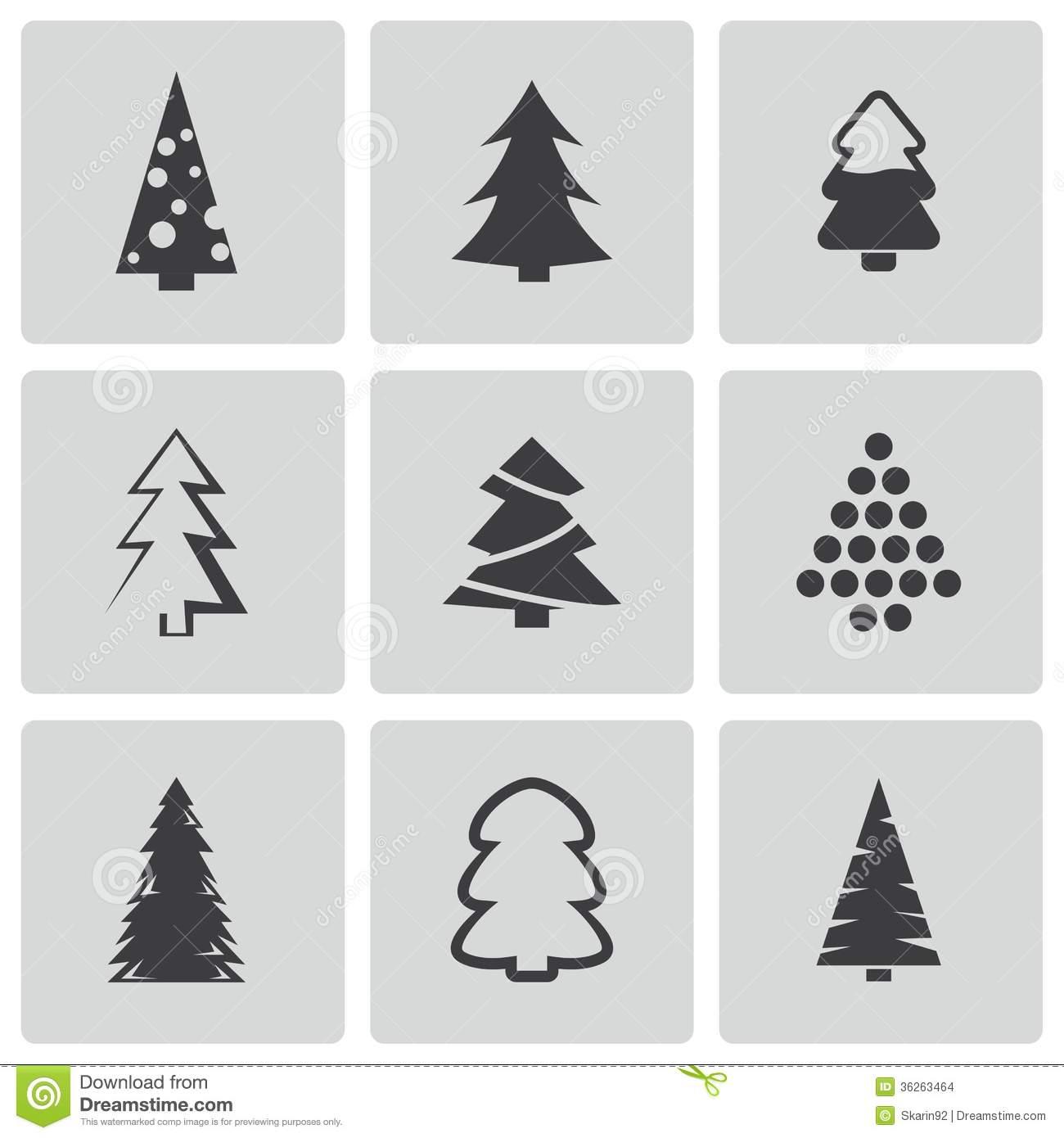 19 Christmas Tree Vector Black Images Black Christmas Tree Vector