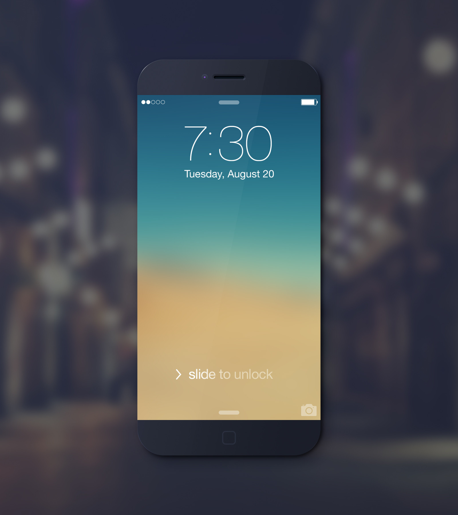 Black iPhone 6 Mockup
