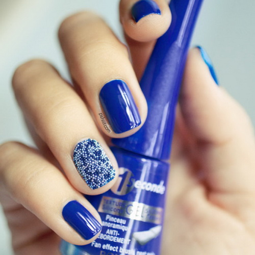 12 Blue Christmas Nail Designs Images