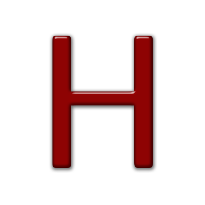 Capital Letter H Icon
