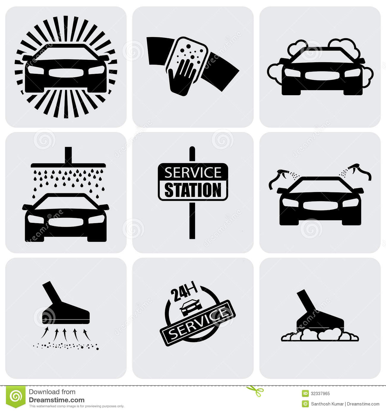 7 Hand Car Wash Icons Images