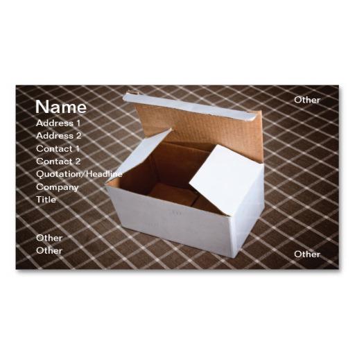 Cardboard Box Business Card