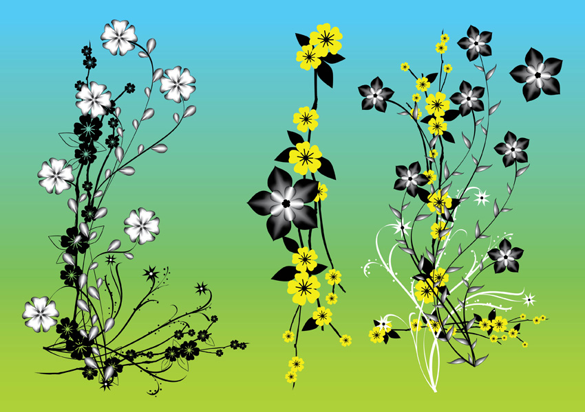 14 Chinese Flower Vector Images