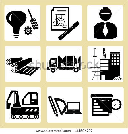 Civil Engineering Management Icon