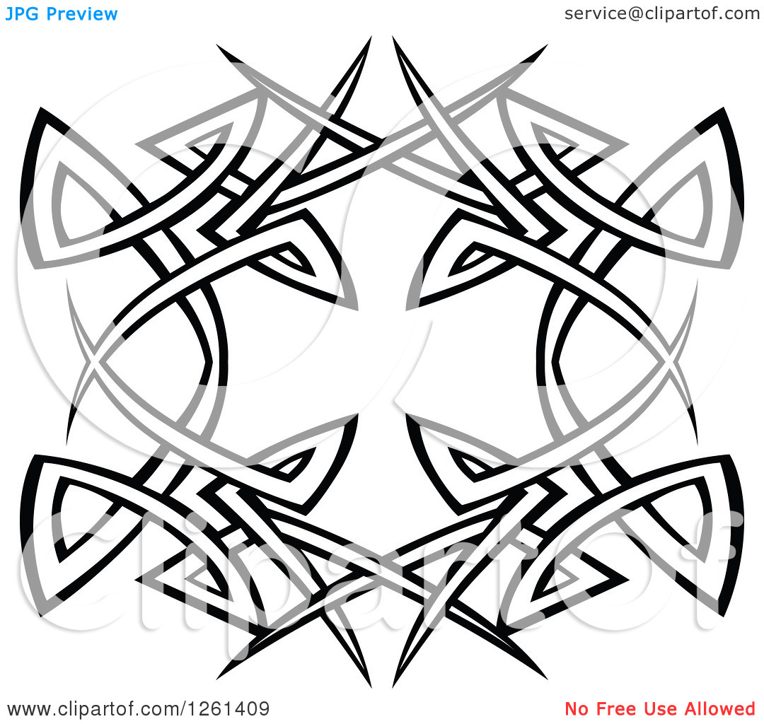 Clip Art Black and White Tribal Designs