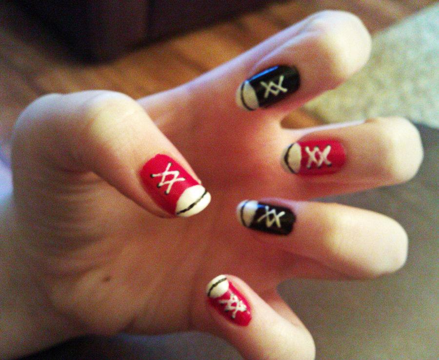 Converse Nail Art Design