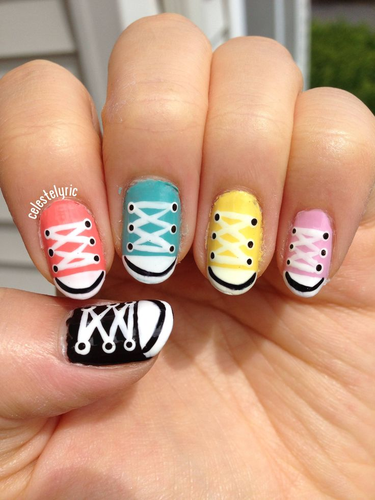 5 Converse Nail Design Images