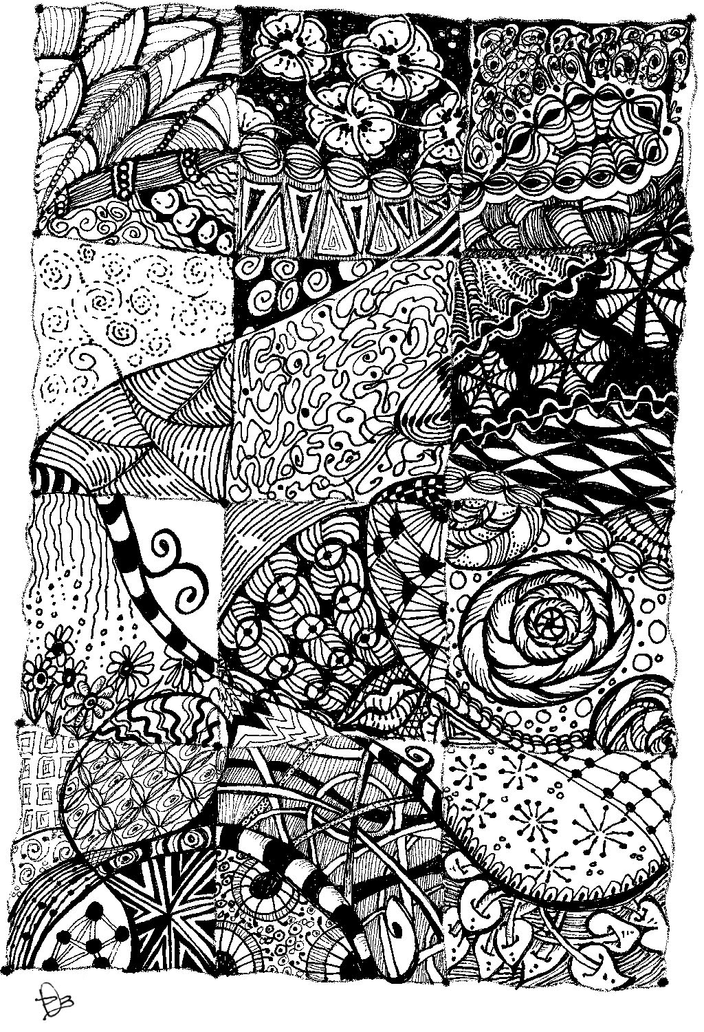 Cool to Draw Zentangle Patterns
