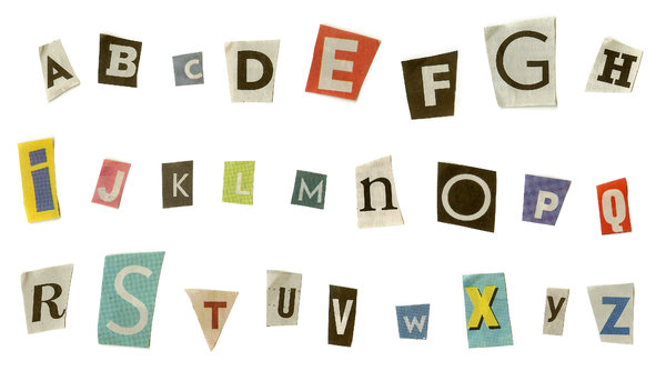 Cut Out Newspaper Letters Font
