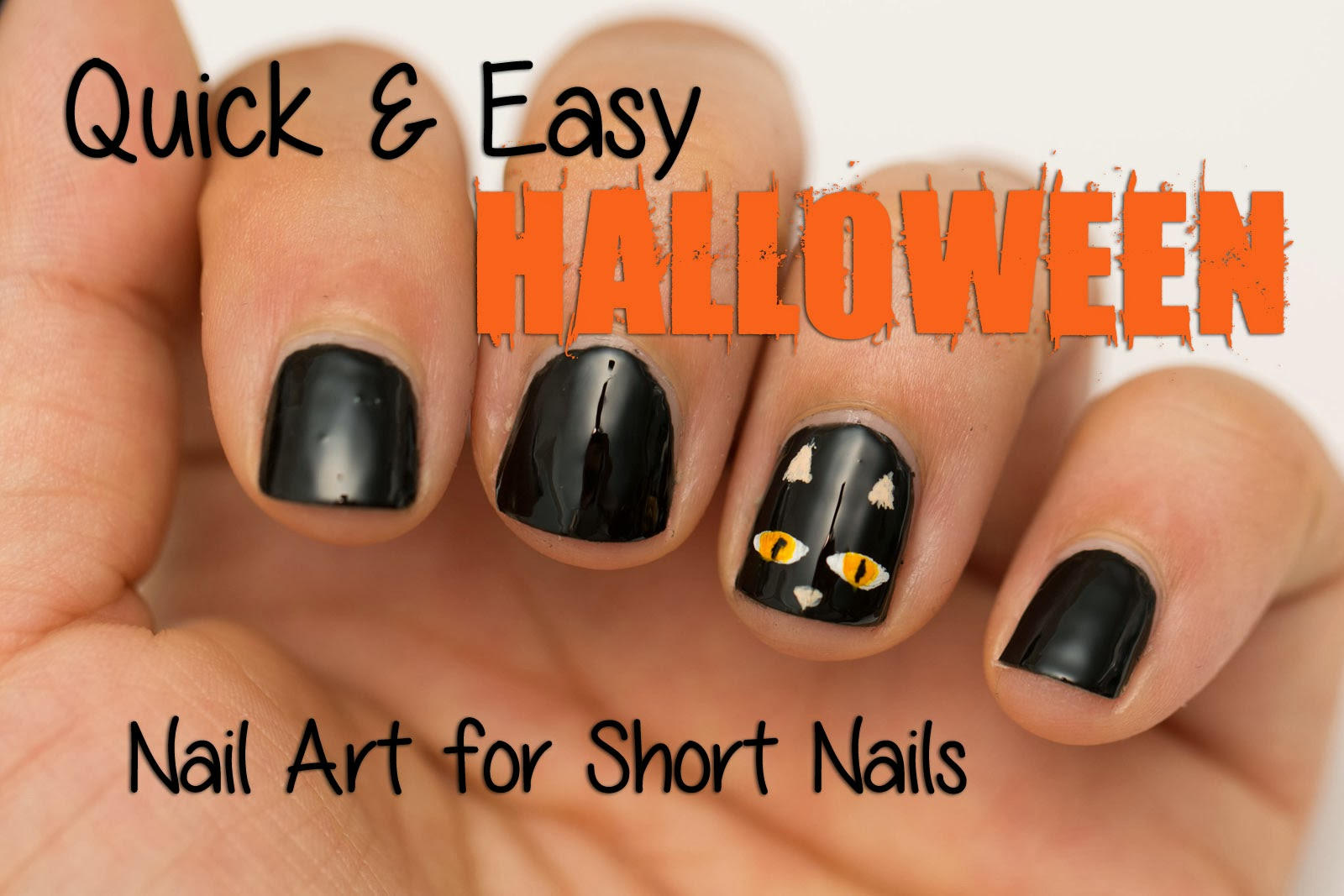 15 Halloween Nail Designs For Short Nails Images , Halloween