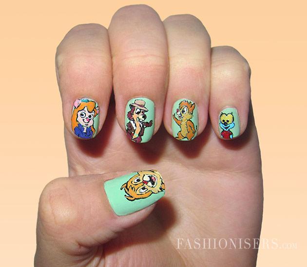 9 Cartoon Nail Art Designs Images