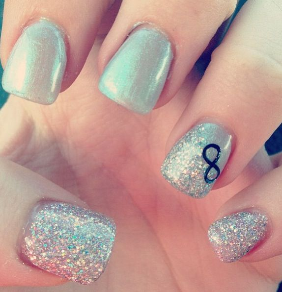 9 Infinity Nail Design Images Anchor And Infinity Nail Design