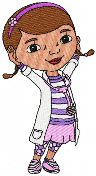 Doc McStuffins Machine Embroidery Design