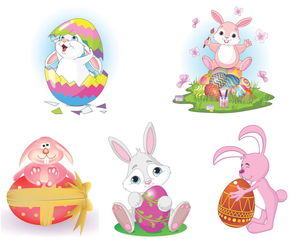 20 Vector Graphics Easter Bunny Images