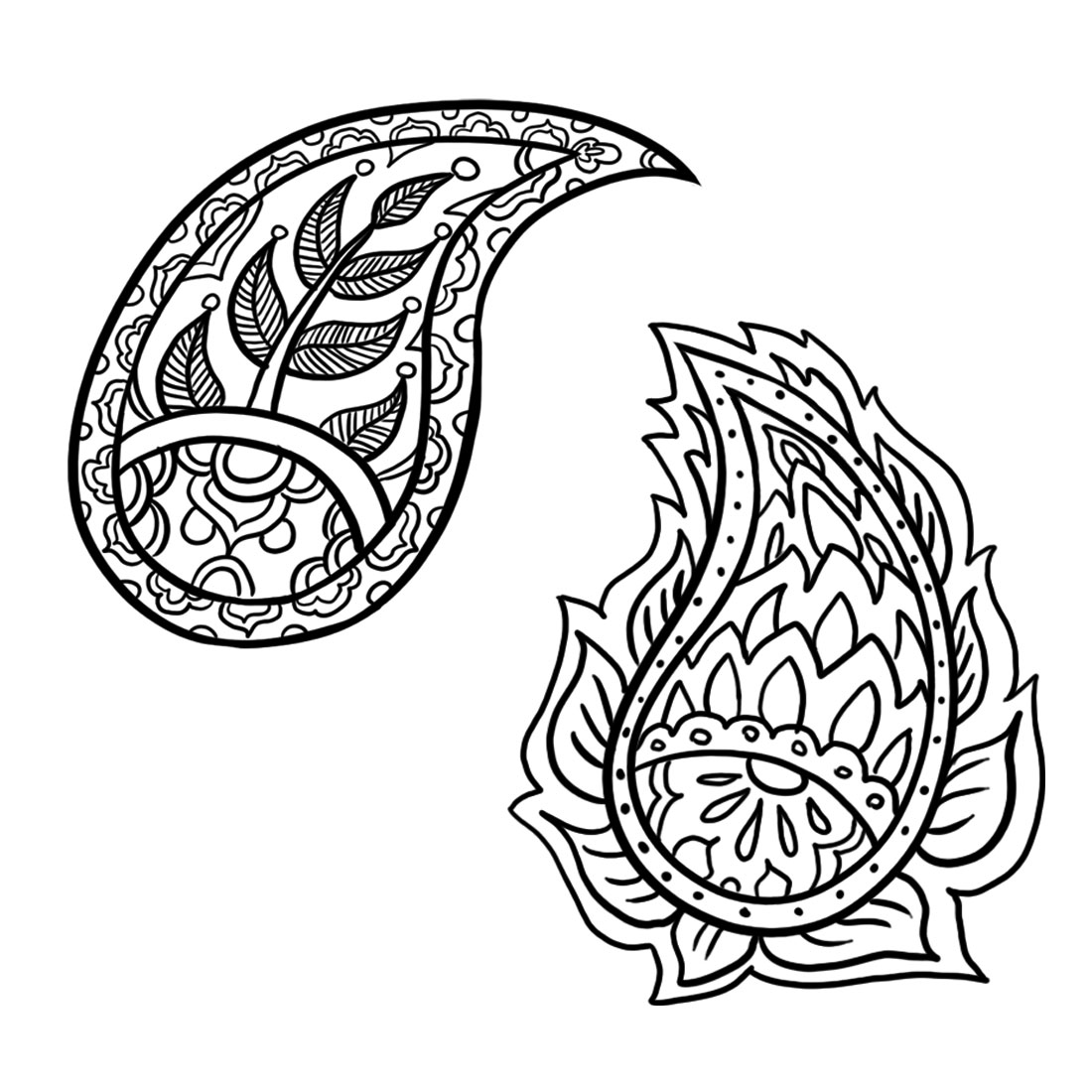 Easy to Draw Paisley Patterns