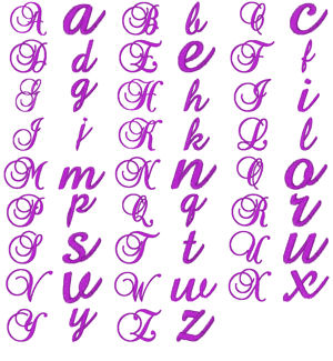 Fancy Lower Case Alphabet Letters