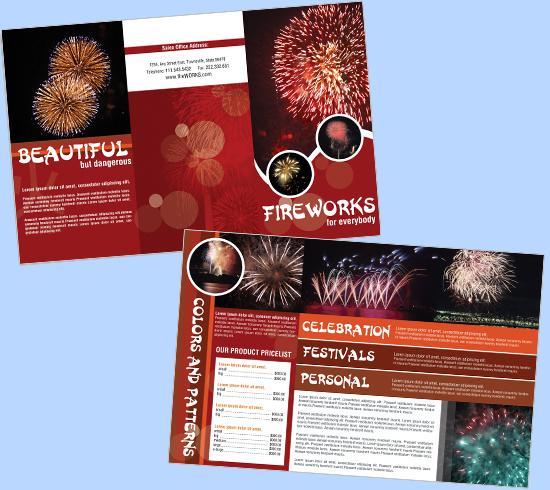 Fireworks Brochure Templates